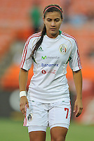 Nayeli Rangel (7) of Mexico during pre-game warmups. The USWNT defeated Mexico 7-0 during an international friendly, at RFK Stadium, Tuesday September 3 , 2013.