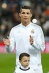 Real Madrid´s Cristiano Ronaldo before 2015/16 La Liga match between Real Madrid and Espanyol at Santiago Bernabeu stadium in Madrid, Spain. January 31, 2016. (ALTERPHOTOS/Victor Blanco)