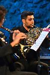 Sala dei Cavalieri di Villa Rufolo<br /> Quintetto di Fiati del Teatro di San Carlo di Napoli<br /> Luca Sartori, clarinetto<br /> Hernan Garreffa, oboe<br /> Bernard Labiausse, flauto<br /> Maddalena Gubert, fagotto<br /> Francesco Mattioli, corno<br /> Pianista Giuseppe Albanese<br /> <br /> Musiche di Ibert, Hindemith, Ligeti, Mozart