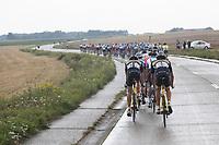 peloton in the rain<br /> <br /> Dwars door het Hageland (1.1)<br /> 1 Day Race: Aarschot > Diest (194km)