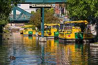 Oklahoma City, Oklahoma, USA.  Bricktown Canal and Water Taxis.