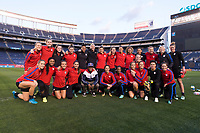 San Diego, CA - January 20, 2018: The USWNT trains before their international friendly against Denmark at SDCCU Stadium.