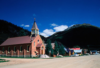 St. PAtric's Catholic Church, in the National Historic District of Silverton, Colorado, an old mining town.