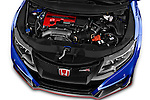 Car Stock 2015 Honda Civic Type-R 5 Door Hatchback Engine  high angle detail view