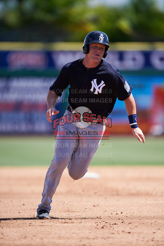 New York Yankees Trey Amburgey (66) during an Instructional League game against the Philadelphia Phillies on September 27, 2016 at Bright House Field in Clearwater, Florida.  (Mike Janes/Four Seam Images)