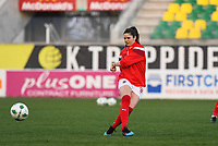 20190227 - LARNACA , CYPRUS : Austrian Sarah Zadrazil pictured during warming up of a women's soccer game between the Super Falcons of Nigeria and Austria , on Wednesday 27 February 2019 at the AEK Arena in Larnaca , Cyprus . This is the first game in group C for both teams during the Cyprus Womens Cup 2019 , a prestigious women soccer tournament as a preparation on the Uefa Women's Euro 2021 qualification duels. PHOTO SPORTPIX.BE | DAVID CATRY