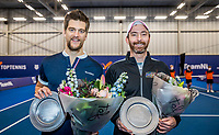 Amstelveen, Netherlands, 20  December, 2020, National Tennis Center, NTC, NK Indoor, National  Indoor Tennis Championships, Men's  Doubles  Final   Winners  Sander Arends (NED) (L) and Matwe Middelkoop (NED)<br /> Photo: Henk Koster/tennisimages.com