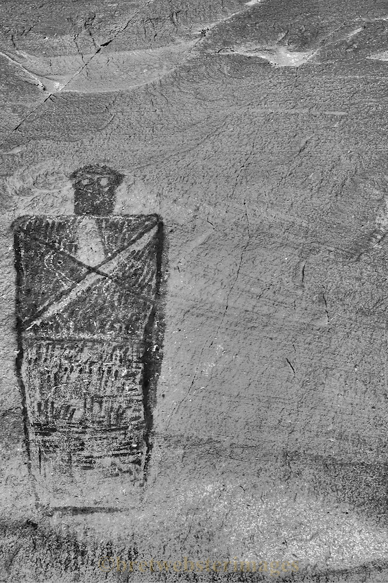 A chilling figure near the Ghost Panel of the Great Gallery is maybe more so in black and white.