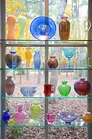 Early American glass display, Museum of American Glass, Wheaton Arts and Cultural Center, Millville, New Jersey