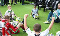Swansea children mascots during the Premier League match between Swansea City and Manchester United at The Liberty Stadium, Swansea, Wales, UK. Saturday 18 August 2017