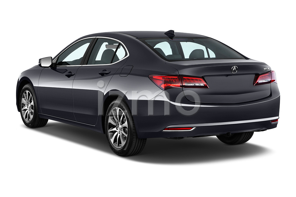 Car pictures of rear three quarter view of 2015-2017 Acura TLX Technology 4 Door Sedan angular rear