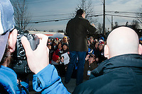 Texas senator and Republican presidential candidate Ted Cruz speaks at a Second Amendment Rally outside Granite State Indoor Range in Hudson, New Hampshire.