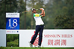 Ankur Chadha of India tees off during the 2011 Faldo Series Asia Grand Final on the Faldo Course at Mission Hills Golf Club in Shenzhen, China. Photo by Raf Sanchez / Faldo Series