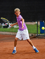 08-08-13, Netherlands, Rotterdam,  TV Victoria, Tennis, NJK 2013, National Junior Tennis Championships 2013, Tycho Korporaal  <br /> <br /> <br /> Photo: Henk Koster