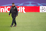 Atletico de Madrid's assistant Mono Burgos during the practice session the day before the EUFA Champions League match between Atletico de Madrid and FC. Barcelona at Vicente Calderon in Madrid. April 13, 2016. (ALTERPHOTOS/Borja B.Hojas)