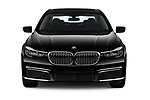 Car photography straight front view of a 2019 BMW 7-Series 740i 4 Door Sedan Front View