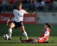 Shannon Boxx, Diana Matheson. The US Women's National Team defeated the Canadian Women's National Team, 4-0, at BMO Field in Toronto during an international friendly soccer match on May 25, 2009.