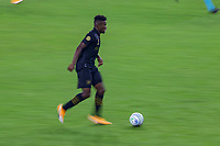 LOS ANGELES, CA - SEPTEMBER 13: Jose Cifuentes #11 of the LAFC moves with the ball during a game between Portland Timbers and Los Angeles FC at Banc of California stadium on September 13, 2020 in Los Angeles, California.