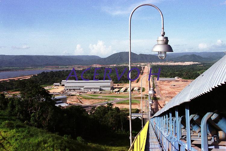 Cia. Vale do Rio Doce, Serra Sossego, Esteira de rolagem .<br />Canãa dos Carajás-Pará-Brasil<br />Foto: Paulo Santos/ Interfoto<br />Negativo 135 Nº 8503 T1  F21a