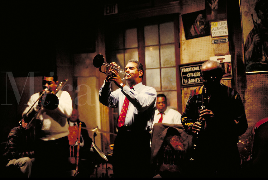 Preservation Hall Jazz Band. jazz musicians. New Orleans Louisiana United States french quarter.