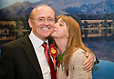 07/05/2010   Copyright  Pic : James Stewart.sct_js011_ochil_south_perthshire_count  .::  SCOTTISH LABOUR PARTY CANDIDATE, GORDON BANKS CELEBRATES WINNING THE OCHIL & SOUTH PERTHSHIRE ELECTION WITH WIFE LYNDA  ::  .James Stewart Photography 19 Carronlea Drive, Falkirk. FK2 8DN      Vat Reg No. 607 6932 25.Telephone      : +44 (0)1324 570291 .Mobile              : +44 (0)7721 416997.E-mail  :  jim@jspa.co.uk.If you require further information then contact Jim Stewart on any of the numbers above.........