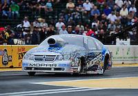Aug. 5, 2011; Kent, WA, USA; NHRA pro stock driver Allen Johnson during qualifying for the Northwest Nationals at Pacific Raceways. Mandatory Credit: Mark J. Rebilas-