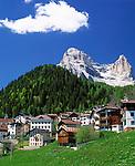 Italy, Veneto, Dolomites, Zoppe de Cadore and Monte Pelmo (3.168 m)