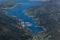 aerial photograph Lake Berryessa, Napa County, California