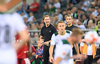 coach Julian NAGELSMANN (M) fires his team at Soccer 1. Bundesliga, 1st matchday, Borussia Monchengladbach (MG) - FC Bayern Munich (M), on August 13th, 2021 in Borussia Monchengladbach / Germany. #DFL regulations prohibit any use of photographs as image sequences and / or quasi-video # Â