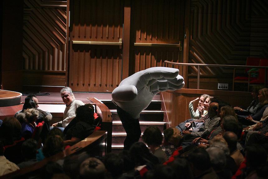 "Nonverbal theater pioneers, Mummenschanz Foundation presents ""Mummenschanz"" on first night of three week run at the Skirball Center for Performing Arts.   Photo by Ari Mintz.  12/20/2010."