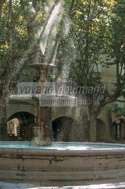 Europe/France/Languedoc-Roussillon/30/Gard/Uzès: Fontaine place aux Herbes