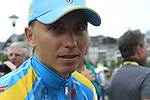 Maxim Iglinskiy (KAZ) Astana Pro Team at the Team Presentation Ceremony before the 2012 Tour de France in front of The Palais Provincial, Place Saint-Lambert, Liege, Belgium. 28th June 2012.<br /> (Photo by Eoin Clarke/NEWSFILE)