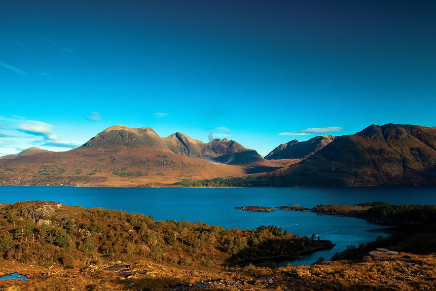 Upper Loch Torridon and Beinn Alligin from the North Coast 500 near Shieldaig, Ross & Cromarty, Northwest Highlands