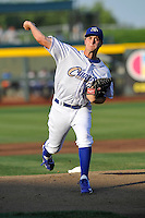 Omaha Storm Chasers pitcher Jake Odorizzi (27) throws a pitch against the Reno Aces at Werner Park on August 3, 2012 in Omaha, Nebraska.(Dennis Hubbard/Four Seam Images)