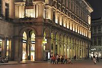 - Milan, Southern Arcades in Duomo Square....- Milano, Portici Meridionali in piazza del Duomo