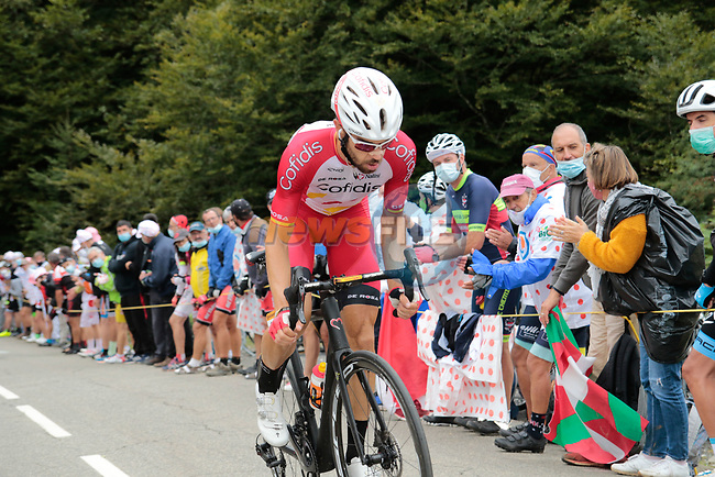 Jesus Herrada (ESP) Cofidis climbs Col de Marie Blanque during Stage 9 of Tour de France 2020, running 153km from Pau to Laruns, France. 6th September 2020. <br /> Picture: Colin Flockton | Cyclefile<br /> All photos usage must carry mandatory copyright credit (© Cyclefile | Colin Flockton)