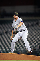 Salt River Rafters pitcher Josh Uhen (35), of the Milwaukee Brewers organization, during a game against the Mesa Solar Sox on October 22, 2016 at Sloan Park in Mesa, Arizona.  Salt River defeated Mesa 7-2.  (Mike Janes/Four Seam Images)