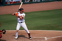 Baltimore Orioles Pat Valaika (11) bats during a Major League Spring Training game against the Philadelphia Phillies on March 12, 2021 at the Ed Smith Stadium in Sarasota, Florida.  (Mike Janes/Four Seam Images)