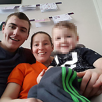 """Pictured: (L-R) Redvers Bickley and Tyler Denton<br /> Re: A 25th birthday party  ended in a knife attack leaving one woman dead and her two sisters and father seriously injured, a jury has heard.<br /> Tyler Denton had been celebrating the birthday of her partner Hayley Barnett's with Shannen and Cody Denton at the home she shared with her friend Redvers Bickley.<br /> But Mr Bickley, 21, made the attack in Rhyl, Denbighshire, north Wales, after feeling """"resentful and angry"""" he had been left out.<br /> He denies murder and attempted murder.<br /> The trial at Mold Crown Court heard the three sisters and Ms Barnett had been having """"a very jolly evening"""" laughing, joking and taking selfies.<br /> John Philpotts QC for the CPS said Mr Bickley had been out of the house drinking until 9pm on 10 September 2017.<br /> The jury were told that the defendant """"felt resentful and angry at his exclusion"""" from the group's evening."""