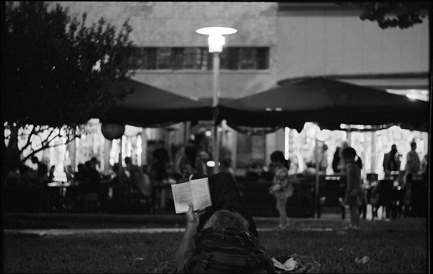 """Lincoln Road Night<br /> From """"Miami Nights"""" series<br /> Miami Beach, Feb 2011"""