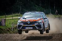 3rd July 2021, Liepaja, Latvia;  49 FRANCESCHI Jean-Baptiste (FRA), GORGUILO Anthony (FRA), TOKSPORT WRT, Renault Clio during the 2021 FIA ERC Rally Liepaja, 2nd round of the 2021 FIA European Rally Championship