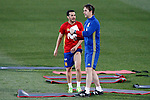 Spain's coach Julen Lopetegui with Pedro Rodriguez during training session. March 20,2017.(ALTERPHOTOS/Acero)