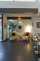 Sitting area in mid-century style home