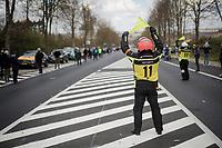 road marchals <br /> <br /> 74th Dwars door Vlaanderen 2019 (1.UWT)<br /> One day race from Roeselare to Waregem (BEL/183km)<br /> <br /> ©kramon