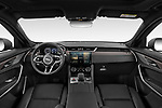 Stock photo of straight dashboard view of 2021 Jaguar F-Pace S 5 Door SUV Dashboard