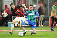 Milano  21-04-2021<br /> Stadio Giuseppe Meazza<br /> Serie A  Tim 2020/21<br /> Milan - Sassuolo<br /> Nella foto:Alexis Saelemaekers                                     <br /> Antonio Saia Kines Milano