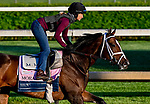 April 27, 2021: Moraz, trained by trainer Mike McCarthy, exercises in preparation for the Kentucky Oaks at Churchill Downs on April 27, 2021 in Louisville, Kentucky. John Voorhees/Eclipse Sportswire/CSM