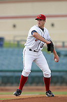 May 9, 2010: Shane Wolf of the Lancaster JetHawks during game against the Inland Empire 66'ers at Clear Channel Stadium in Lancaster,CA.  Photo by Larry Goren/Four Seam Images