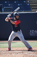 Jake Roberts (23) of the Gonzaga Bulldogs bats against the Cal State Fullerton Titans at Goodwin Field on March 12, 2017 in Fullerton, California. Fullerton defeated Gonzaga, 3-2. (Larry Goren/Four Seam Images)