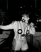 1991 FILE PHOTO - ARCHIVES -<br /> <br /> Mitsou pops up. Quebec pop siren Mitsou, banned on MuchMusic for her racy video Dis-mol, dis-mol (Tell me, tell me), found a more receptive audience at the Opera House last night, when she sang from her Terre Des Hommes album.<br /> <br /> 1991<br /> <br /> PHOTO :  Dick Loek - Toronto Star Archives - AQP